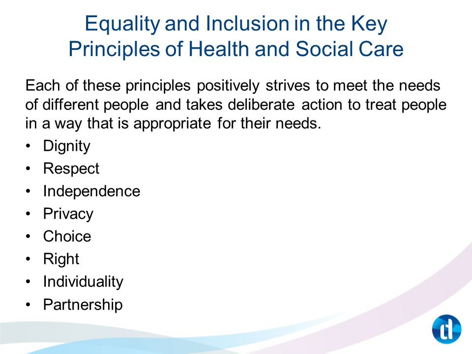 Introduction to Equality and Inclusion in Health and Social Care