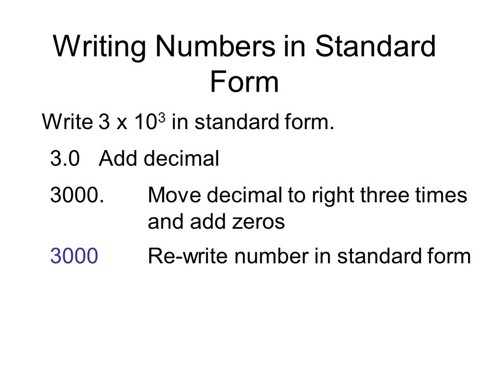 What Is Standard Form In Decimals Solidaphikworks