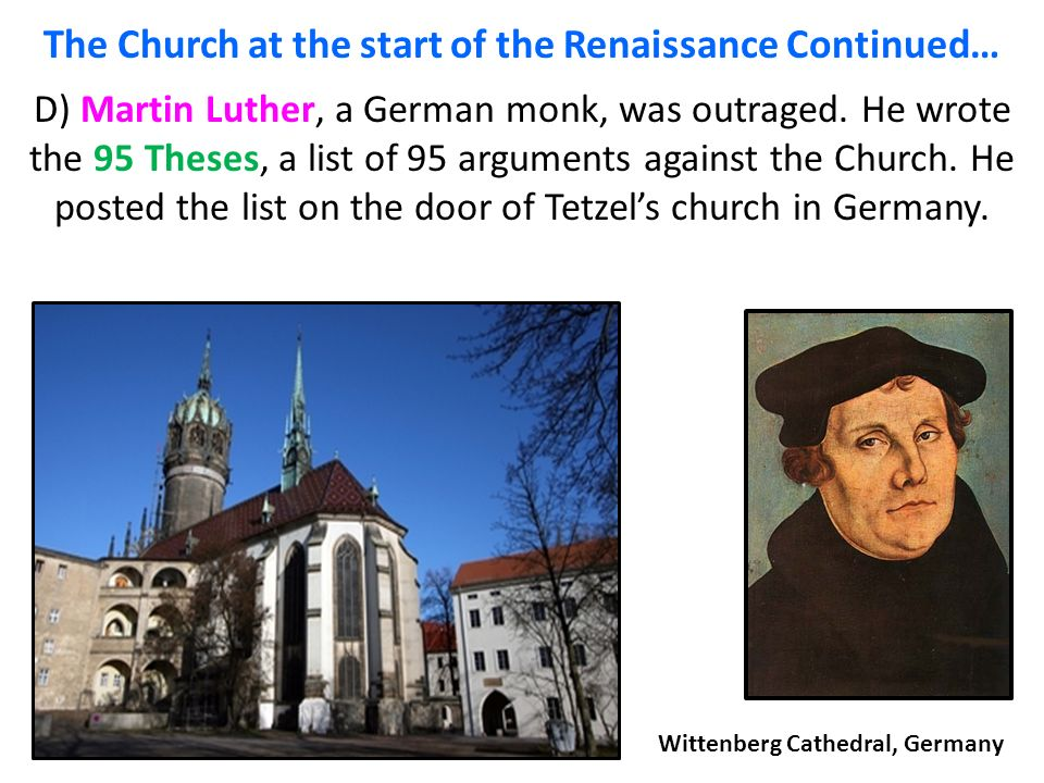 why was the thesis made by martin luther Why martin luther matters to united methodists share: and martin luther brought this to the attention of the christians in his the difference luther made.
