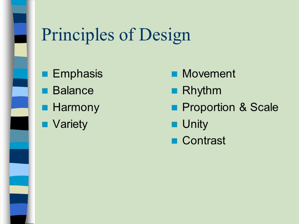 Principles Of Design Harmony : Principles of design are the ways
