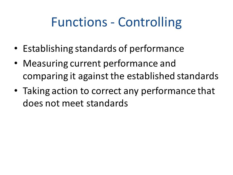 Functions - Controlling