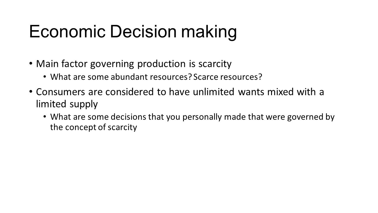 concepts of resources and scarcity Scarcity as quality of resources-this is a type of scarcity that does not have anything to do with demand, supply or economy it is the non- market scarcity it is the non- market scarcity this includes the supply of a certain quality of resource that is diminished.
