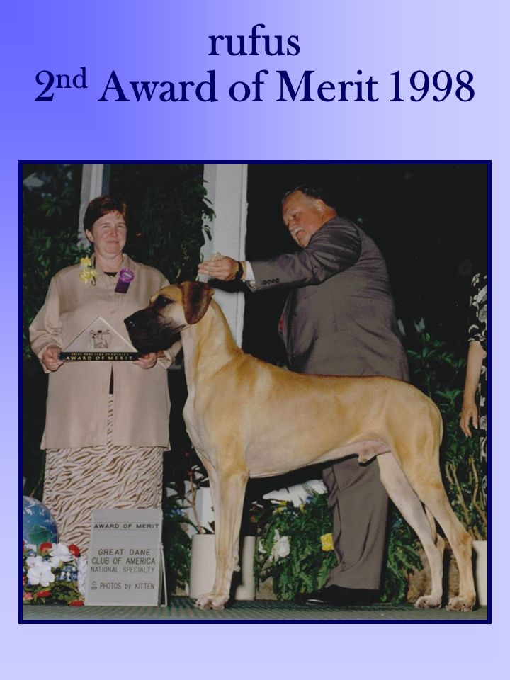 rufus 2nd Award of Merit 1998