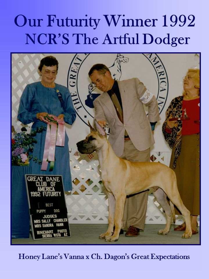 Our Futurity Winner 1992 NCR'S The Artful Dodger