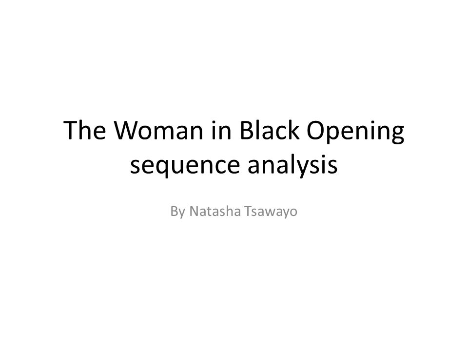 the woman in black analysis