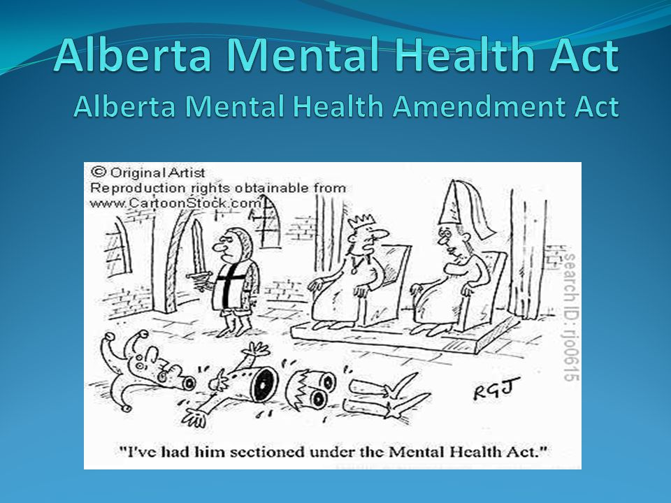 mental illness and the canadian law Canadian human rights act applies to  of canada for psychological health and.