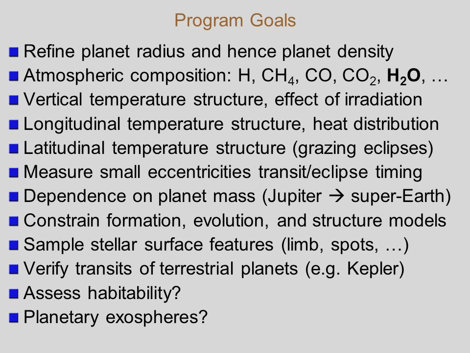Exoplanet Characterization with JWST - ppt download