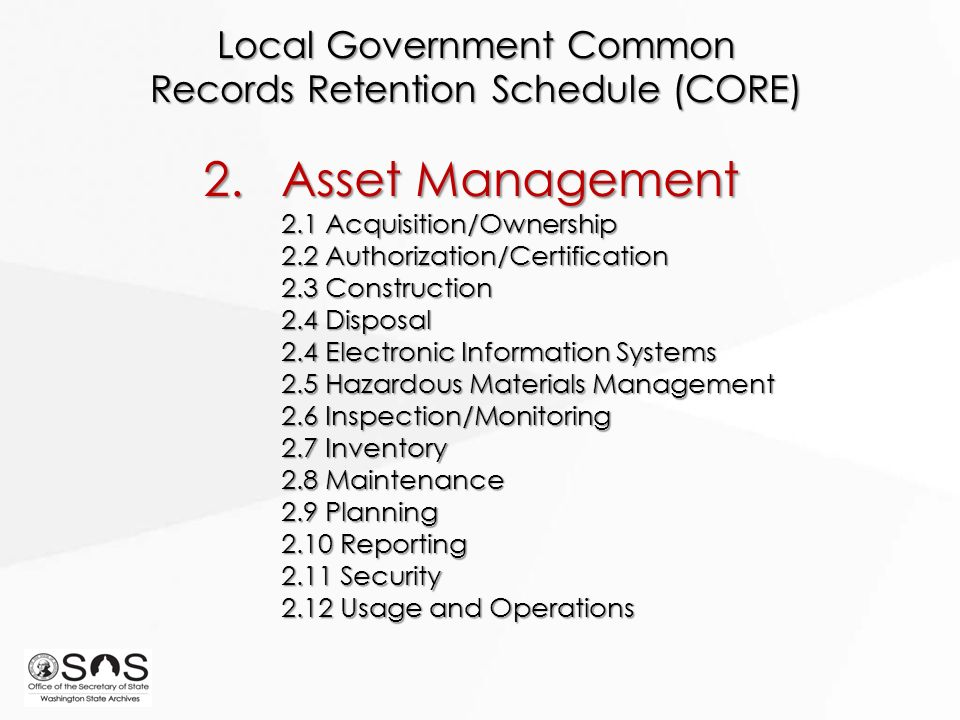 Local literature about record management system
