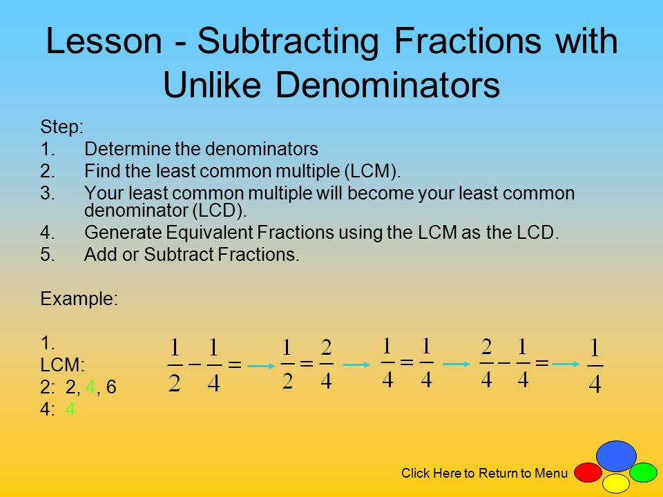 Adding and subtracting fractions with different denominators - YouTube