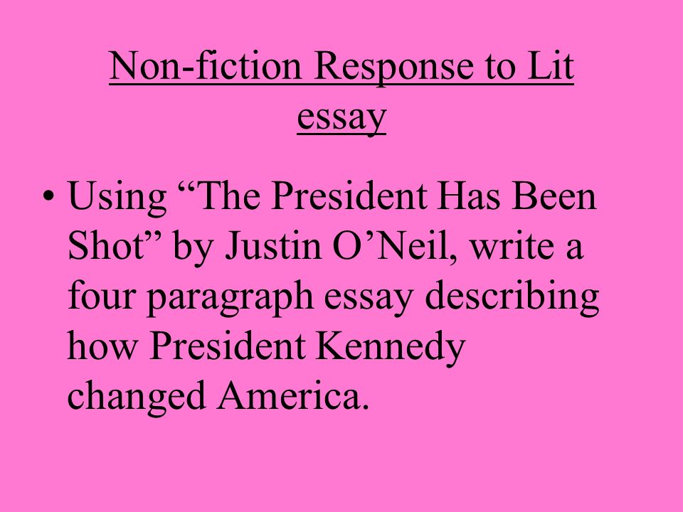 Article essay fiction non writing