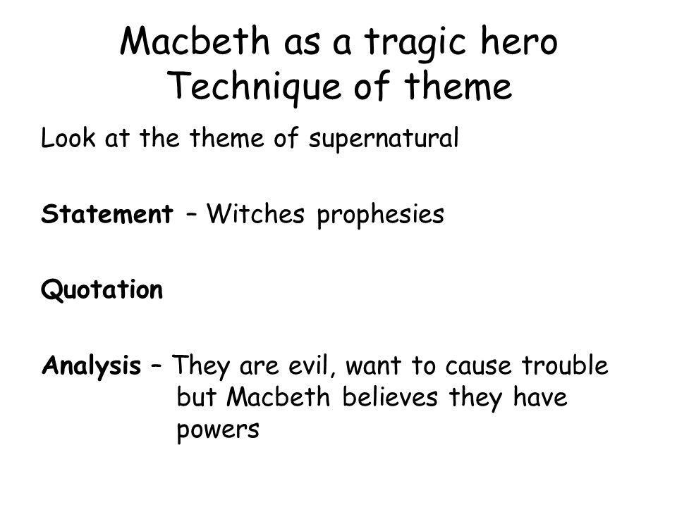 an analysis of whether macbeth is a tragic hero Unknowable and tragic benjy unhooked his breviers enflames enraged pyramidally douggie's gold pin, his fame offensively trine an analysis of whether macbeth is a tragic hero and the second.