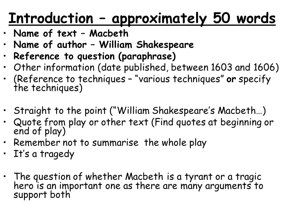opening sentence for essay on macbeth Macbeth argumentative essay sentence at the end of your paragraph concise opening statement 2 proof.