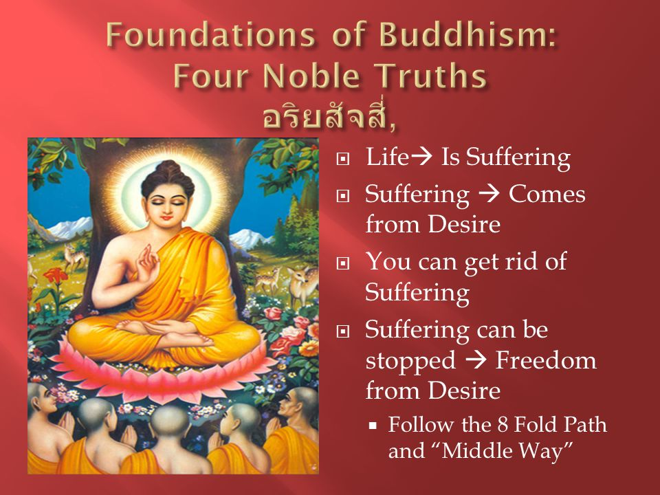 Foundations of Buddhism: Four Noble Truths อริยสัจสี่,