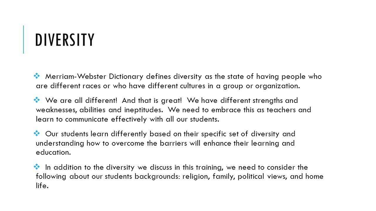 Diversity in Education - ppt video online download