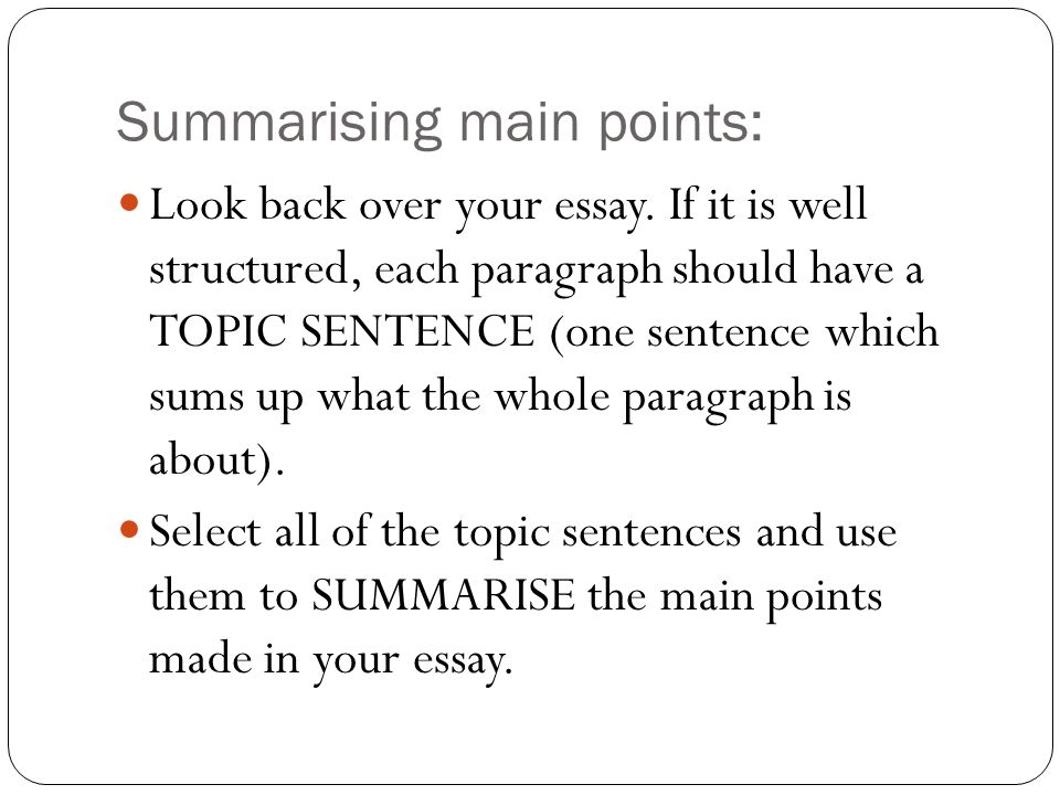 critical essay writing ppt  6 summarising