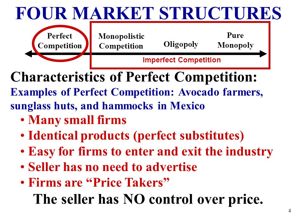 Features Of Perfectly Competitive Market Homework Service