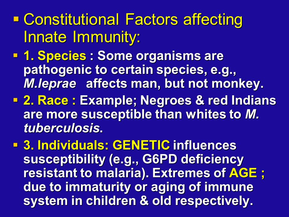 factors affecting the immune system To introduce the complexity of immune system function and  environmental  factors are likely to have profound effects on the development of host immune.