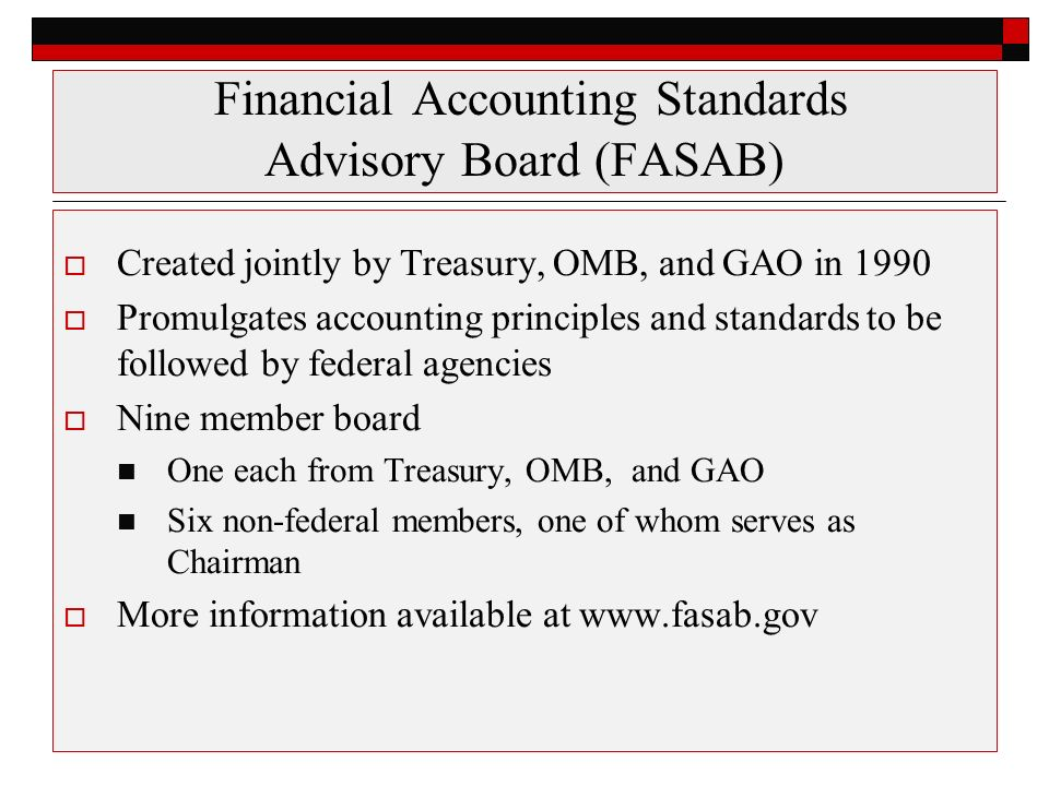 government accounting standards board versus financial accounting Governmental accounting standards board 1984-present the gasb is the highest, but not the sole, source of gaap for state and local governments when accounting issues are not covered by gasb guidance, guidance from the american institute.