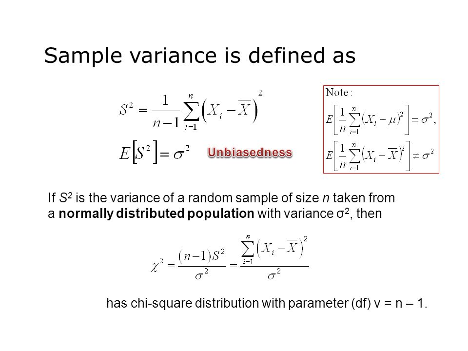 Sample Variance Is Defined As