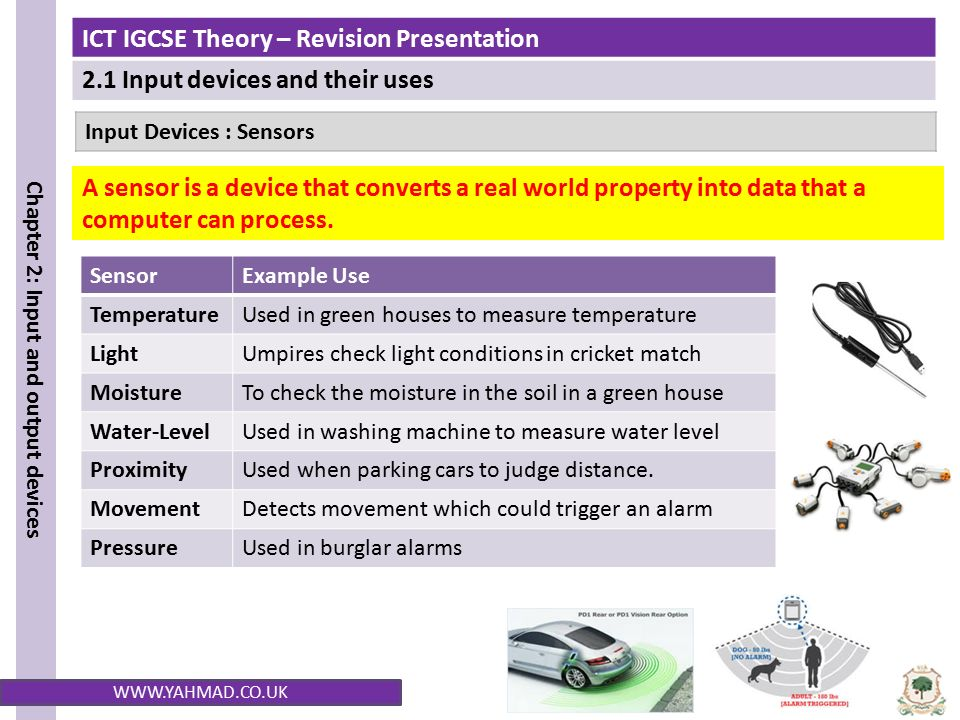 Input Devices A Sensors on Water Pressure Sensor