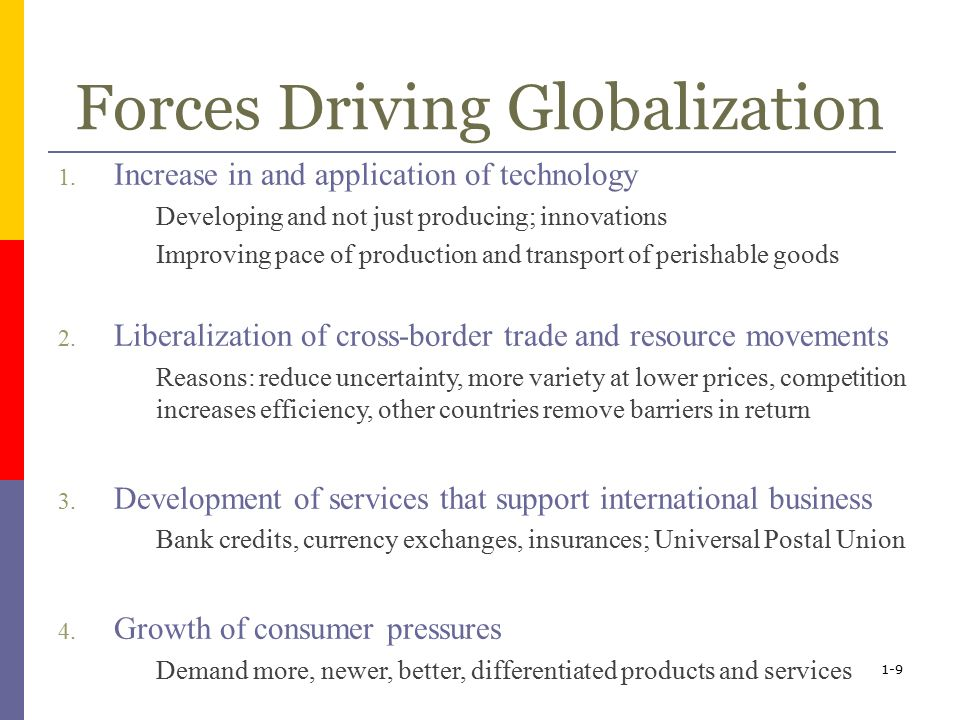 forces behind globalization