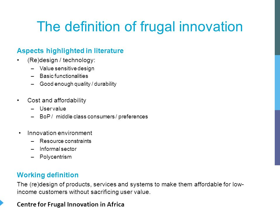 Innovative Classroom Definition : Frugal innovation a literature review cfia eadi