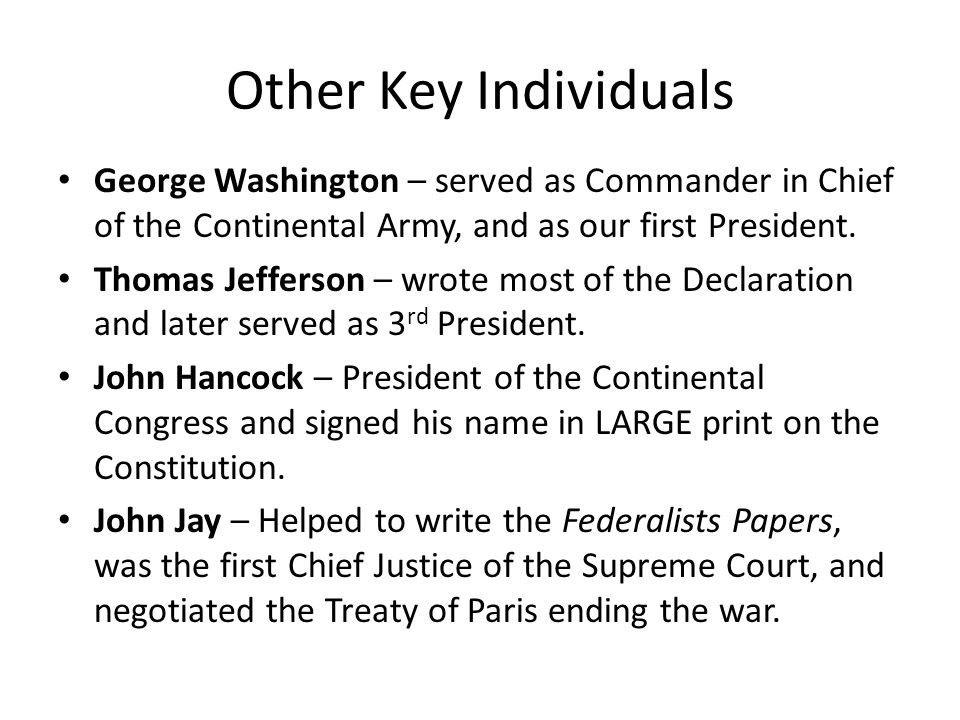 The commander in chief essay