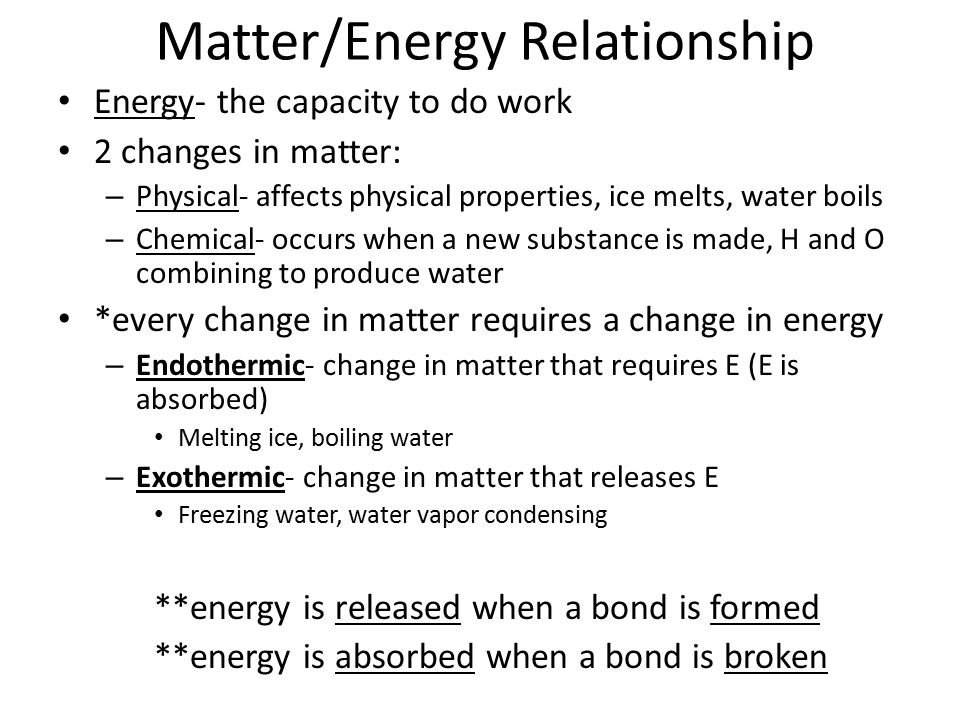 energy and matter relationship trust