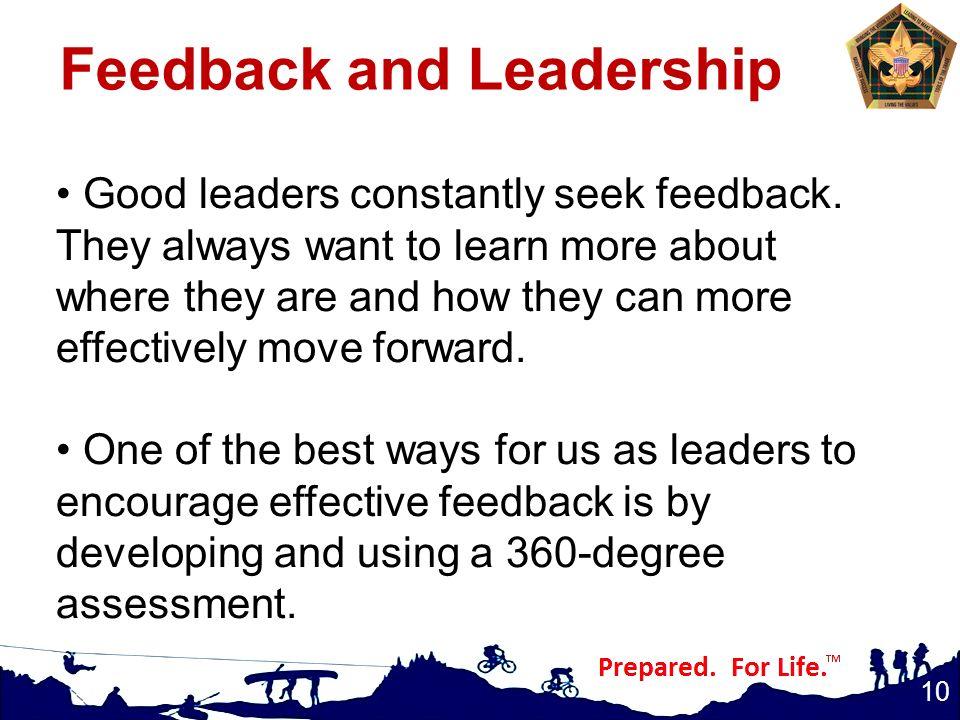 Feedback and Leadership
