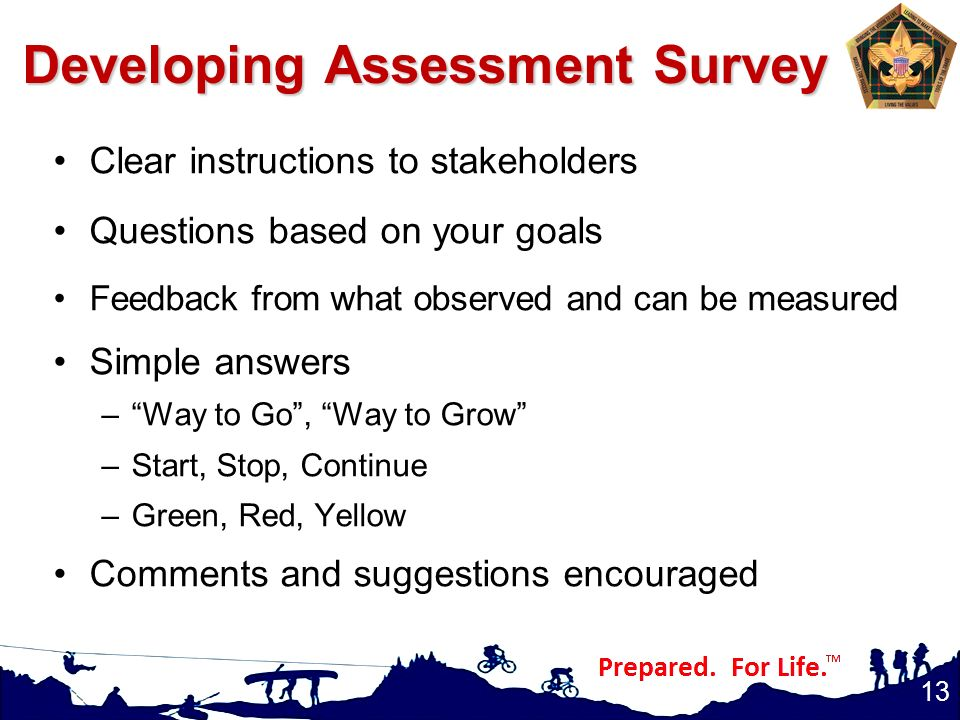 Developing Assessment Survey