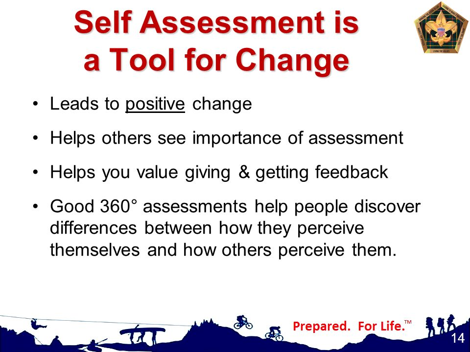 Self Assessment is a Tool for Change