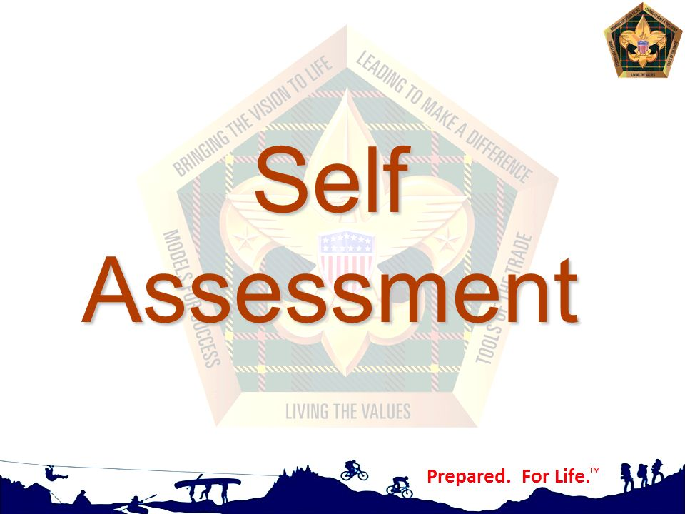Self Assessment Values, Mission, and Vision