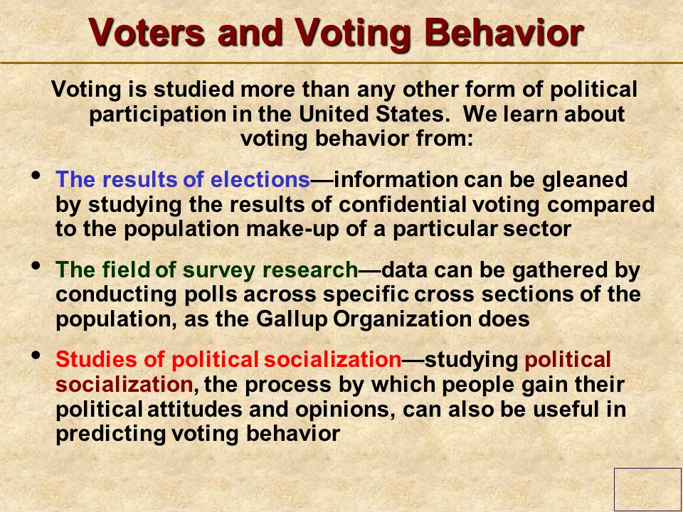 The factors that affects the voting behavior of the citizens
