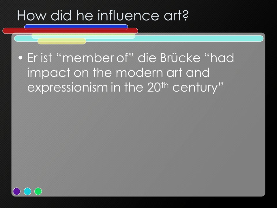 How did he influence art