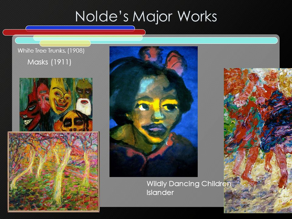 Nolde's Major Works Masks (1911) Wildly Dancing Children Islander