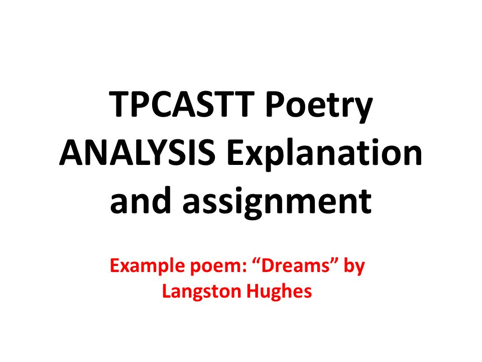 an analysis of the poetry of langston hughes