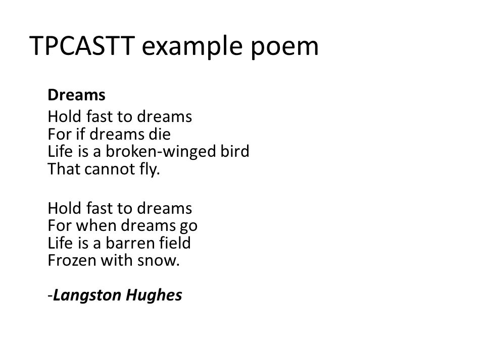 tpcastt poetry analysis explanation and assignment ppt  tpcastt example poem