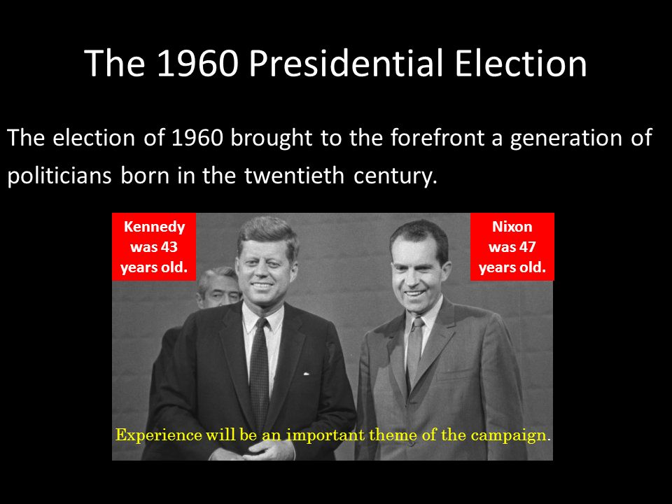 an analysis of the congress election of john f kennedy and richard nixon While russian president vladimir putin denies meddling in us elections, soviet leader nikita khrushchev boasted about tilting the 1960 presidential election, when john f kennedy beat richard nixon.