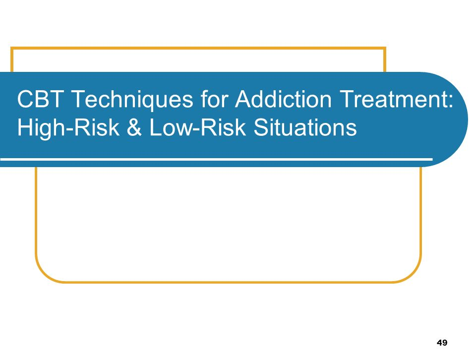 Leaders Guide Cognitive Behavioural Relapse Prevention – High Risk Situations for Relapse Worksheet