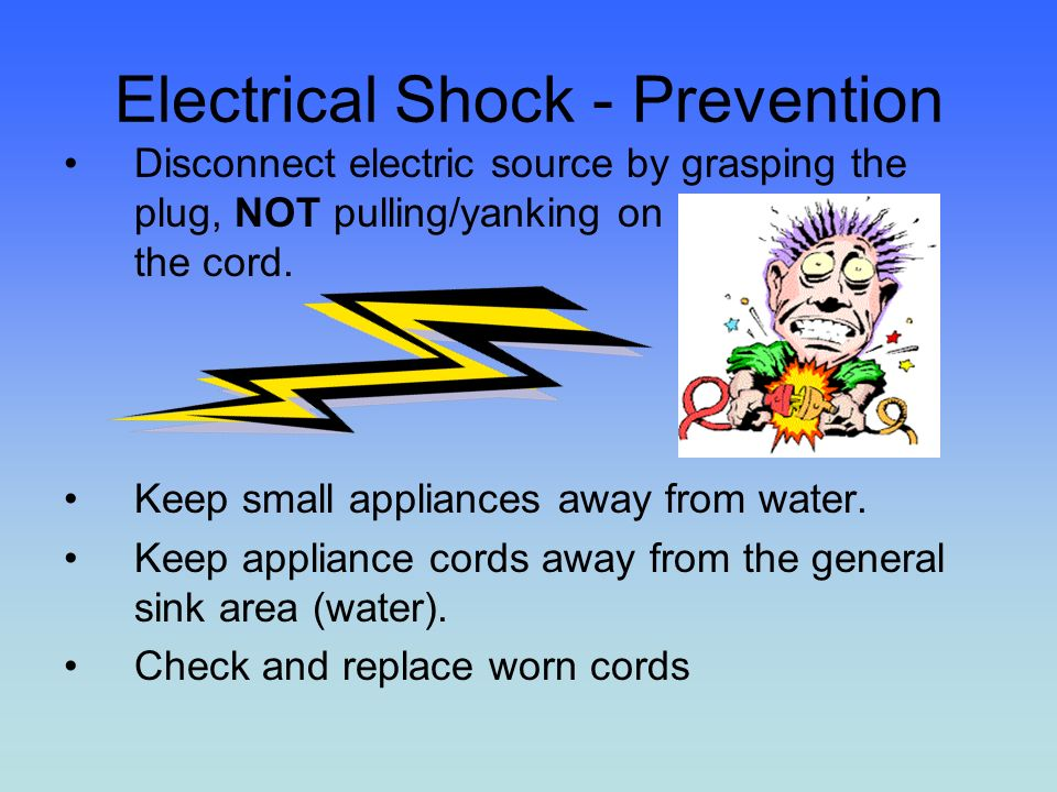 Electric Shock From Kitchen Sink