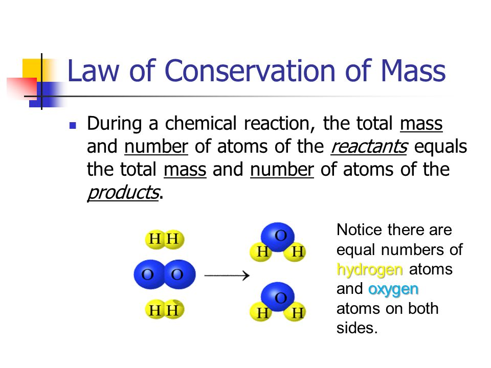 law of conservation of mass introduction View full lesson: everything in our universe has mass — from the smallest atom to the l.