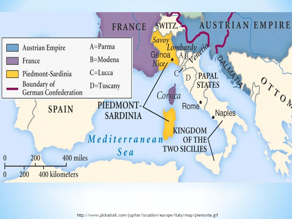 Cavour and the Italian War of 1859 The Unification of Italy ppt