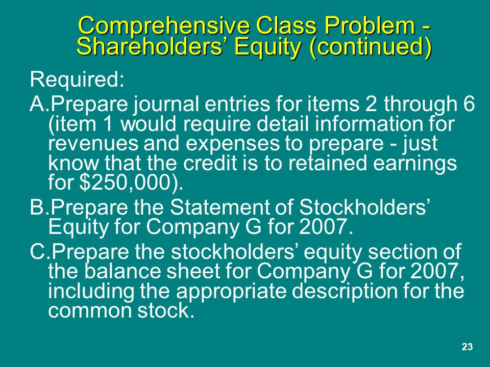 Adams corporation comprehensive problem