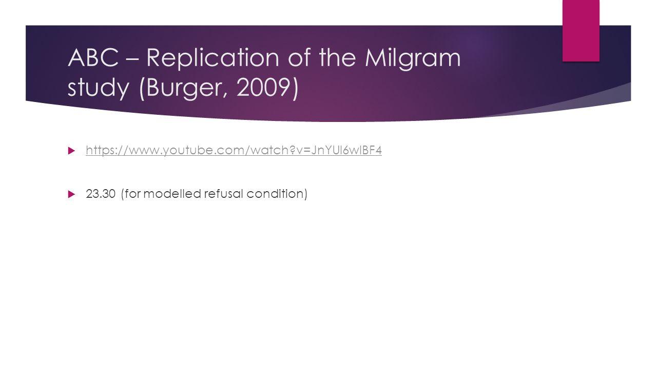 Abc news milgram study