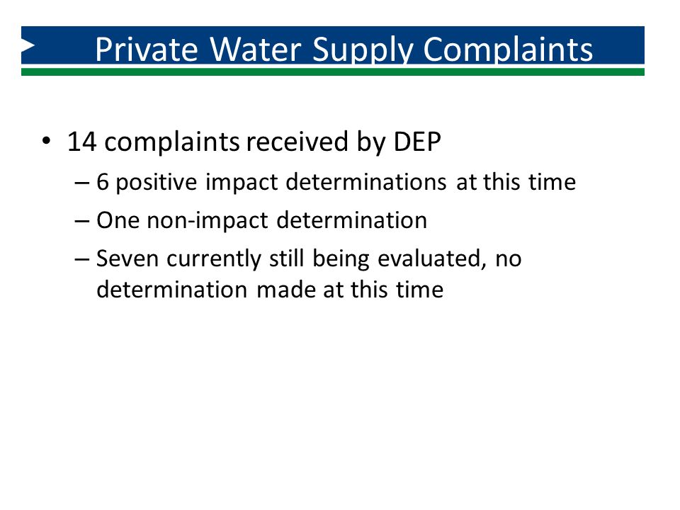 Private Water Supply Complaints