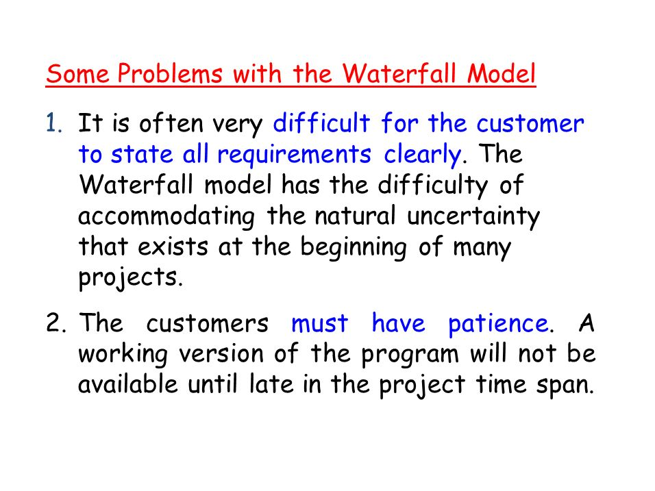 Software development life cycle sdlc ppt video online for Waterfall model is not suitable for