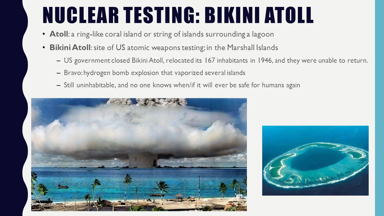 View, not nuclear bomb testing and bikini island ass explosion