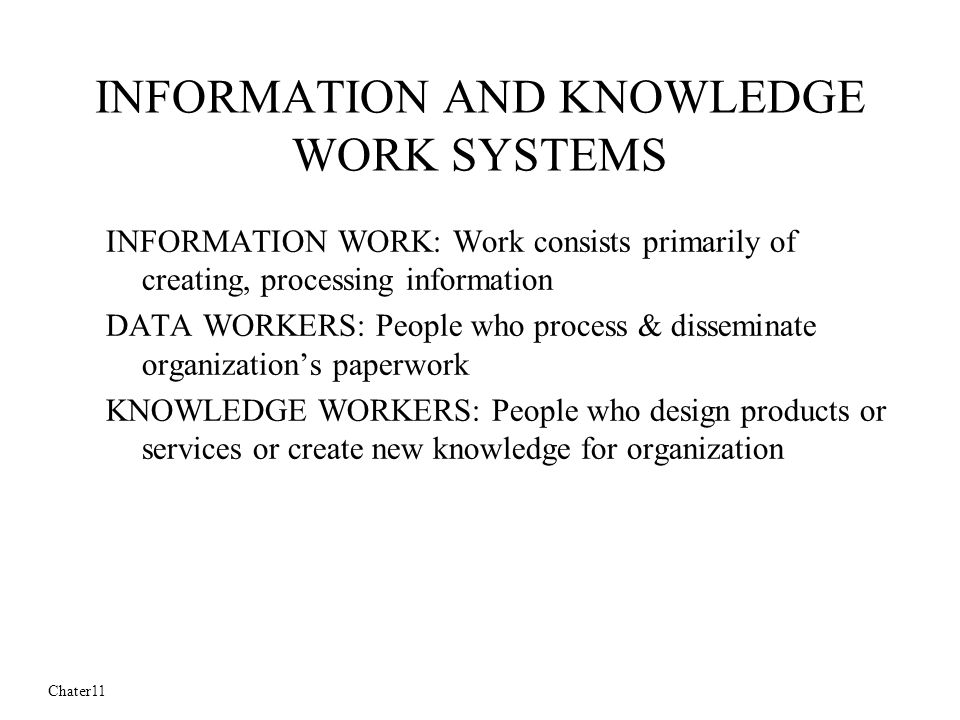 knowledge workers and organizational arrangement In addition to the relationship between employment arrangement and knowledge sharing, we also test the impact of autonomous motivation (cf deci and ryan, 2000), organizational support and trust on knowledge sharing behavior the hypotheses are tested empirically among employees and external consultants in the petroleum sector in norway.