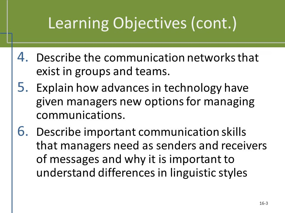 tda3 11 1 explain why effective communication is important