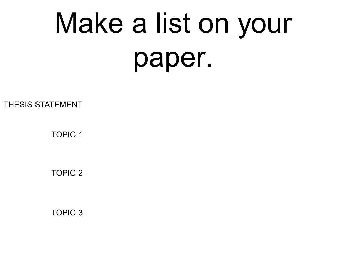 Make a thesis online